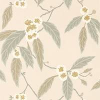 Coppice Wallpaper - Powder / Truffle / Gilver