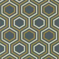 Selo Wallpaper - Ebony / Gold