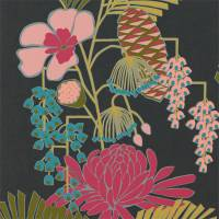 Salon Wallpaper - Ebony / Azalea / Fern