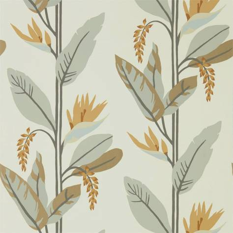 Harlequin Mirador Wallpapers Llenya Wallpaper - Honey / Jet / Jute - 112237