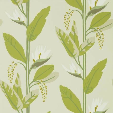 Harlequin Mirador Wallpapers Llenya Wallpaper - Lime / Jade / Pebble - 112238