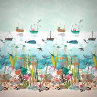 Above and Below Wallpanel - Marine Life