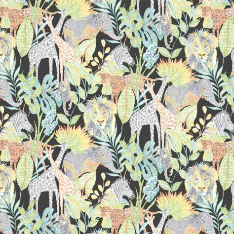 Harlequin Book of Little Treasures Wallpapers Into the Wild Wallpaper - Midnight / Jungle - 112649