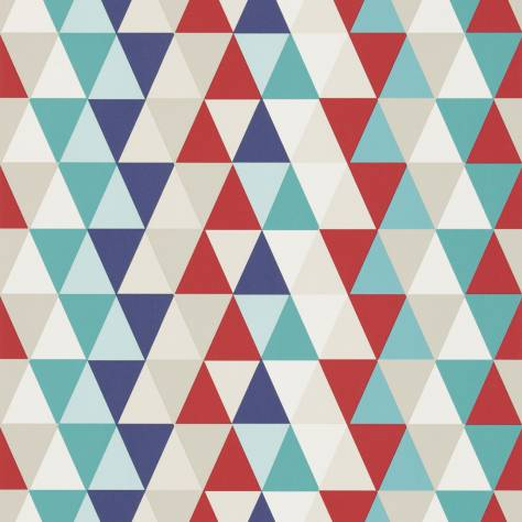 Harlequin All About Me Fabrics & Wallpapers Kaleidoscope Wallpaper - Red/Blue/Multi - 110525