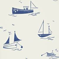 Sail Away Wallpaper - Navy