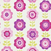 Oopsie Daisy Wallpaper - Pink/Purple/Lime