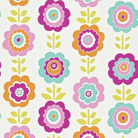 Harlequin All About Me Fabrics & Wallpapers Oopsie Daisy Wallpaper - Pink/Turquoise/Lime - 110547