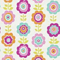 Oopsie Daisy Wallpaper - Pink/Turquoise/Lime