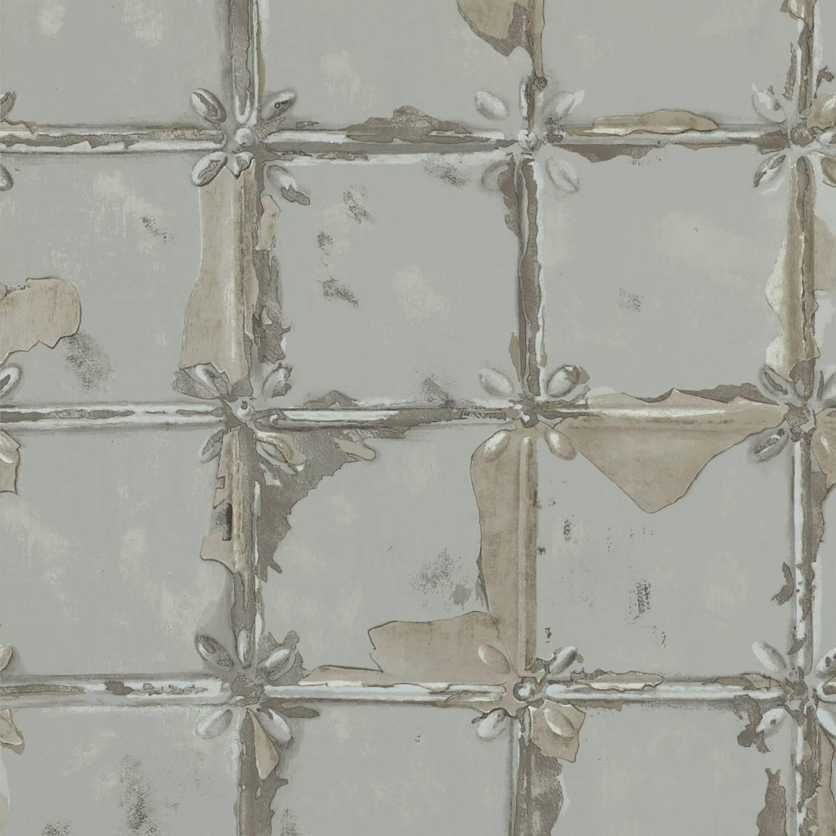 Akoa Wallpaper Pewter 110637 Harlequin Leonida