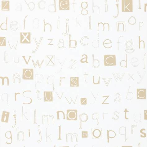 Harlequin What a Hoot Fabrics & Wallpapers Little Letters Wallpaper - Cappuccino/Neutral - 70521