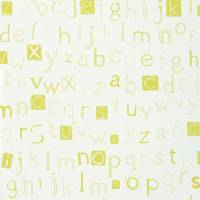 Little Letters Wallpaper - Lemonade/Neutral