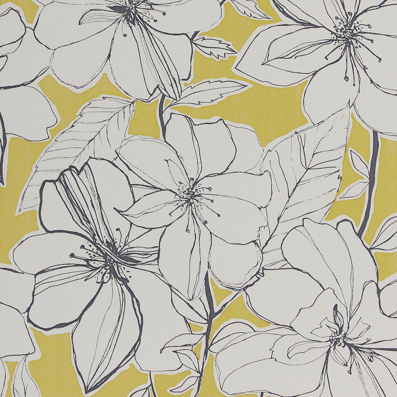 Mustard Design Wallpaper : Spirit wallpaper mustard slate neutral
