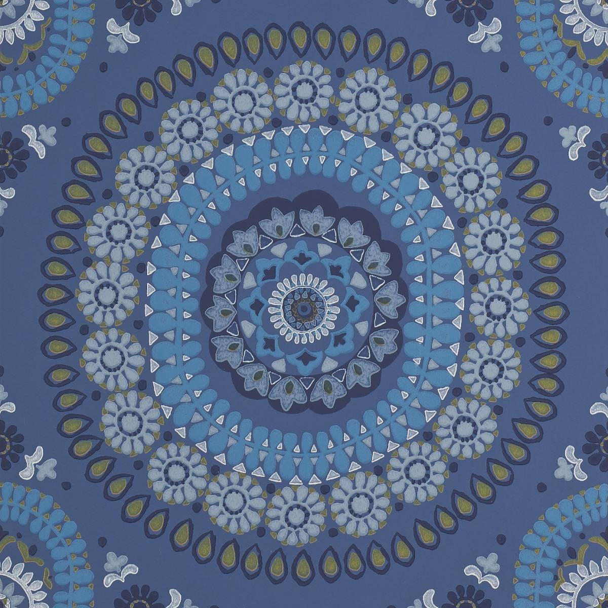 Boheme Wallpaper - Indigo (110658) - Harlequin Jardin Boheme Wallpapers Collection