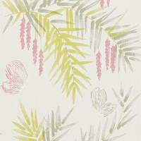 Floret Wallpaper - Azalea/Lemongrass
